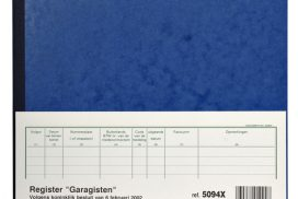 Register Piqure garagisten 320x250mm 80vel blauw