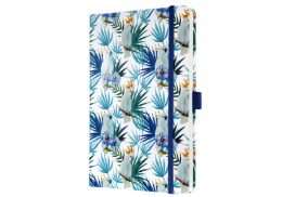 Notitieboek Sigel Jolie Beauty A5 lijn Indigo Tropics