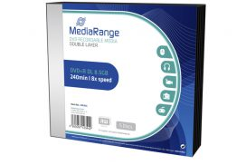DVD+R MediaRange DL 8.5GB|Slimcase Pack a 5 stuks