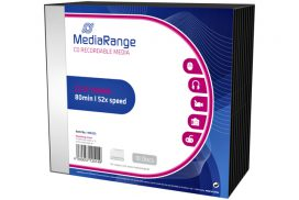 CD-R MediaRange 700MB|80min 52x speed, Slimcase a 10 stuks