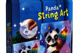 Knutselset Totum String Art bright lights panda