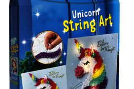KnutselsetTotum String Art bright lights unicorn
