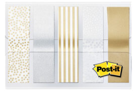 Indextabs 3M Post-it 684 12mmx43mm metallic motief goud zilv