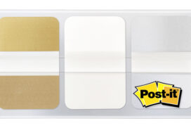 Indextabs 3M Post-it 686 25.4mmx38mm goud, wit en zilver