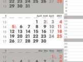 3-maandkalender 2021 Manager Compact Notes