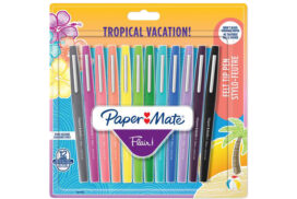 Fineliner Paper Mate Flair Tropical 0.7mm blister à 12 kleur