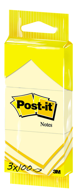Memoblok Post-it Notes 6810 38x51mm geel