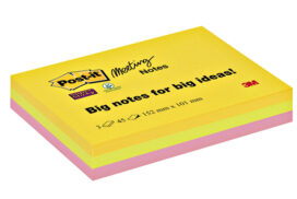 Memoblok 3M Post-it 6445 Super Sticky 101x152mm assorti