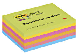Memoblok 3M Post-it 8645 Super Sticky 203x153mm assorti