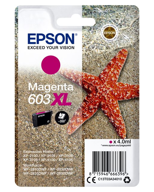 Inkcartridge Epson 603XL T03A3 rood