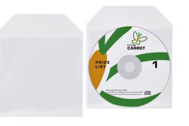 DVD/CD hoes met klep 125x1280mm bio degradable