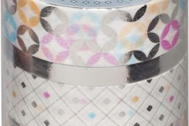 Washi tape hotfoil zilver