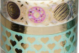 Washi tape hotfoil goud
