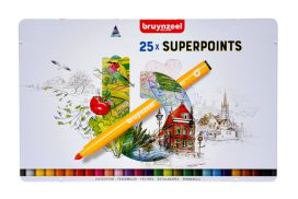 Viltstift Bruynzeel Expression super points blik à 25 stuks
