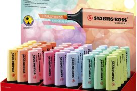 Markeerstift STABILO Boss Original pastel display à 45 stuks