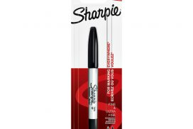 Viltstift Sharpie twin tip rond 0.5mm en 0.9mm zwart blister