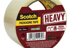 Verpakkingstape Scotch Heavy 50mmx50m transparant