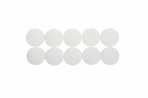 Magneet Maul Solid 38x15.5mm wit