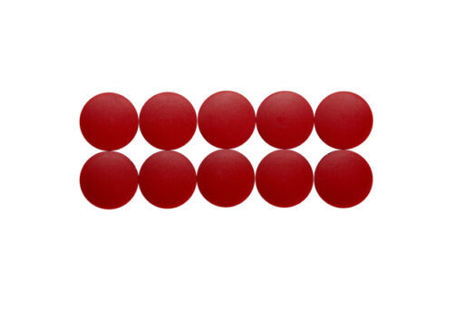 Magneet Maul Solid 38x15.5mm rood