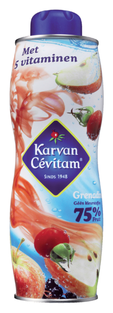 Siroop Karvan Cevitam grenadine bus 750ml