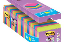 Memoblok 3M Post-it 654 SSCOLCAB Super Sticky 76x76mm 21+3 g