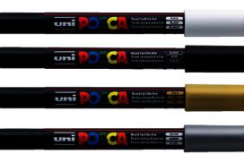 Verfstift Posca PC3M F donkerblauw