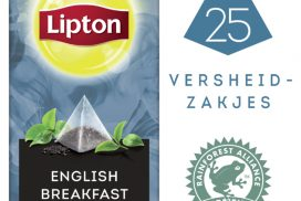 Thee Lipton Exclusive English Breakfast 25 piramidezakjes