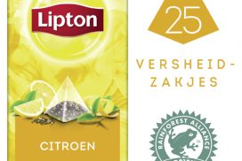 Thee Lipton Exclusive Citroen 25 piramidezakjes 25 stuk