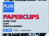 Paperclip Plus Office blister 28mm assorti