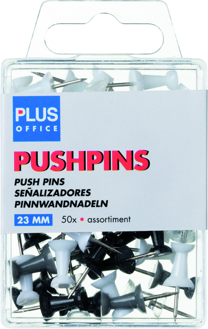 Push pins Plus Office blister assorti