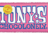 Chocolade Tony's Chocolonely reep 180gr wit framboos knetter
