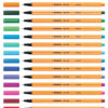 Fineliner Stabilo 88 Just like you edition roletui geel/dess